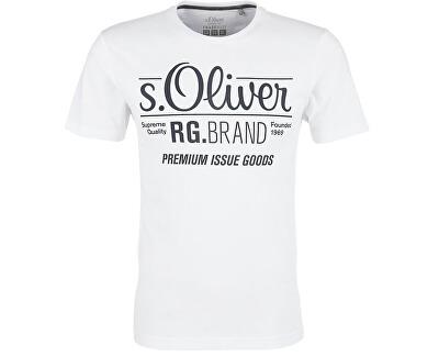 s.Oliver Pánské tričko 03.899.32.4501.0100 White