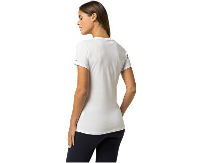 Dámské triko s krátkým rukávem Cotton Iconic Logo SS Tee Print UW0UW00091-100 White