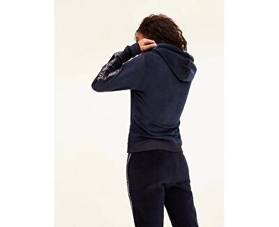 Hanorac damăZip Thru Hoody Ls UW0UW02044-416 Navy Blazer