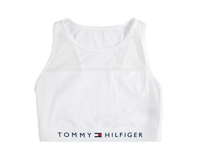 Női sportmelltartó Sheer Flex Cotton Bralette UW0UW00012-100 White