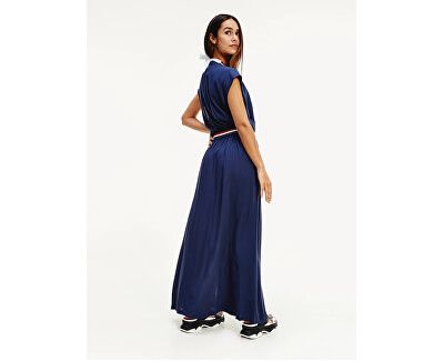 Damenkleid Wrap Dress Pitch Blue