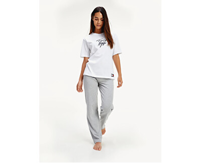 Damen T-Shirt Cn Tee Ss Logo Pvh Classic White