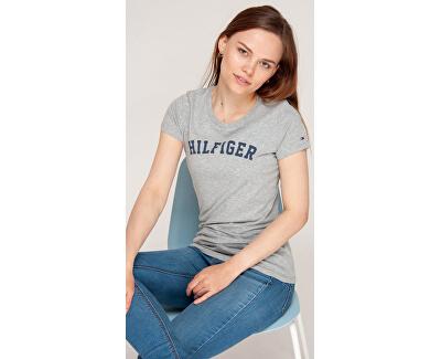 Dámske tričko Cotton Iconic Logo SS Tee Print UW0UW00091-004 Grey Heather