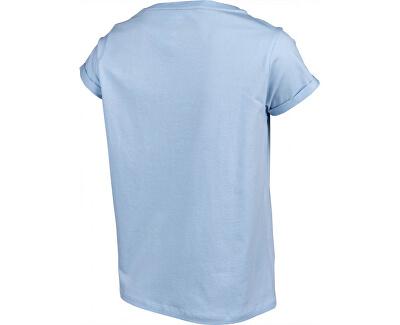 Frauen-T-Shirt Rn Tee Ss Logo Cashmere Blue