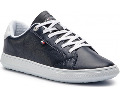 Tenisky Essen tial Leather Icon Logo Sneaker FM0FM01987-403