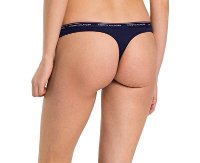 Set de pantaloni pentru femei Essentials 3P Thong UW0UW00048-416 Navy Blazer/Navy Blazer/Navy Blazer
