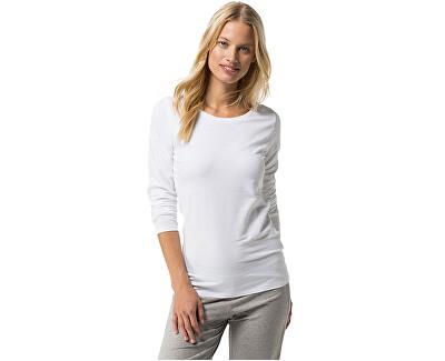 Tommy Hilfiger Tricou pentru femei Cotton Iconic Sleepwear T-shirt T-shirt Cotton Icon ic Sleepwear LS 1487904677-100 White