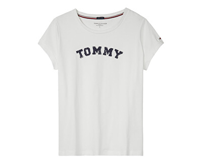 8736963aac Tommy Hilfiger Dámské triko Varsity Cn Tee Ss Logo White UW0UW01315-100