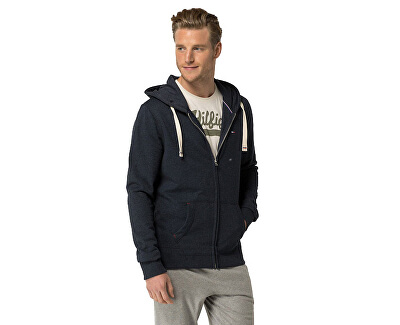 Tommy Hilfiger Masculin Hooded Icon Heavy weight Knit Zipthru Hoody 2S87905806-416 Navy Blazer