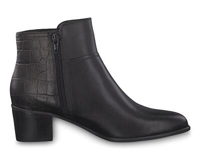 Dámske členkové topánky 1-1-25058-23-081 Black / Croco
