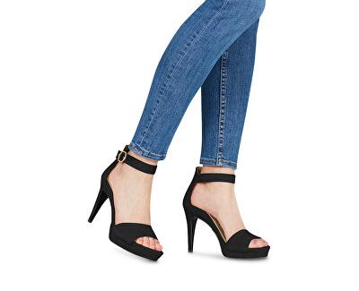 Dámské sandále 1-1-28377-22-004 Black Suede