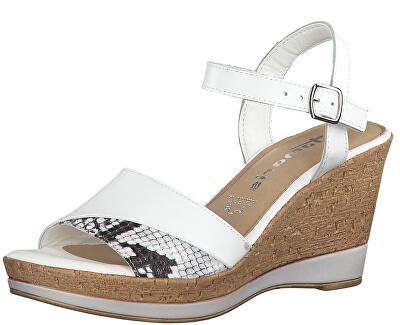 Dámské sandále 1-1-28382-32-128 White/Snake