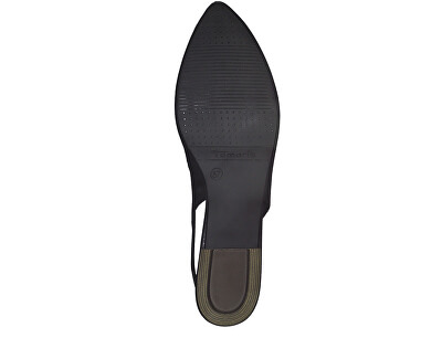 Női körömcipő 1-1-29400-22-003 Black Leather