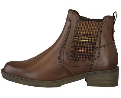 Dámske členkové topánky 1-1-25012-23-305 Cognac