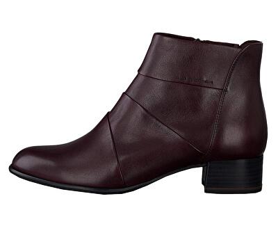 Dámske členkové topánky 1-1-25366-23-549 Bordeaux