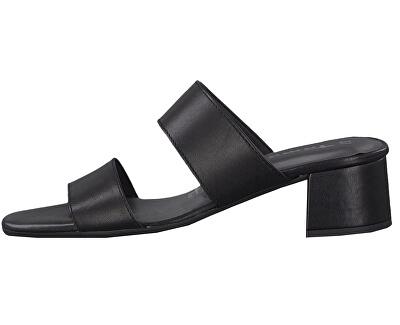 Dámské pantofle 1-1-27218-22-003 Black Leather