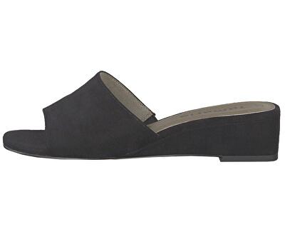 Női papucsok 1-1-27253-22-004 Black Suede