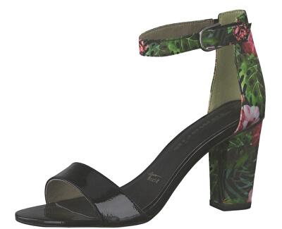 Dámske sandále 1-1-28315-22-043 Blk Pat/Flower