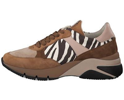 Dámske tenisky 1-1-23782-33-319 Cognac/Zebra