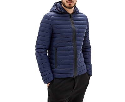 Pánská bunda Hoodie Zip Slim Fit Matt 52S00329-U290 Navy Blue