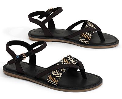 Dámske sandále Black Canvas/Geometric Woven Lexie