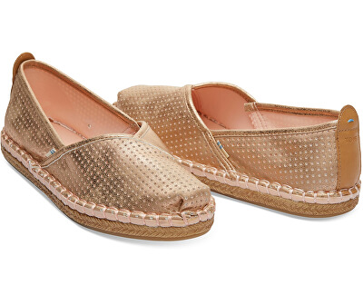 Femei espadrilky Champagne Shimmer Synthetic Petra