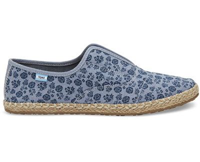TOMS Femeile albastru Slip-On Navy Ditsy Floral Palmera Slip-on