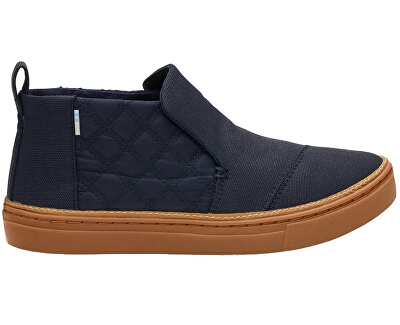 TOMS Doamnelor Slip-On adidași Navy Textural Canvas/Quilted