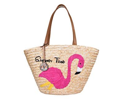 Női táska 48-0009 Szalma természetes