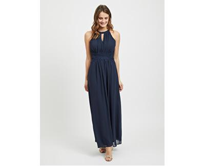 Damenkleid VIMILINA HALTERNECK MAXI DRESS - NOOS Total Eclipse