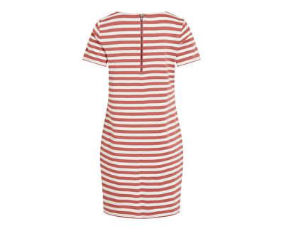 Damenkleid VITINNY NEW S / S DRESS - NOOS Dusty Cedar Snow White H / H