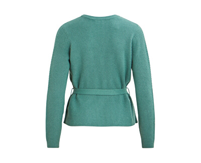 Dámsky kardigan vírili KNIT L / S SHORT RIB CARDIGAN / L Oil Blue
