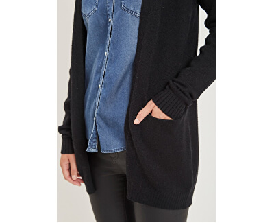 Dámsky kardigan Viril L/S Open Knit Cardigan-Noos Black