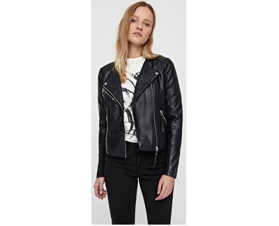 Jachetă pentru femei VMRIA FAV SHORT FAUX LEATHER JACKET NOOS Black