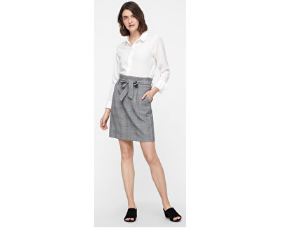 Dámska sukňa Eva HR Paperbag Short Check Skrt Noos Grey/White