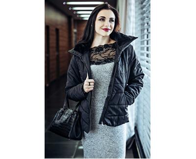 Dámske šaty Cima Lace Ls Dress Light Grey Melange W. Black Lace