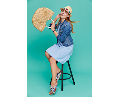 Damen Kleid VMHELENMILO SL SHORT DRESS WVN PI