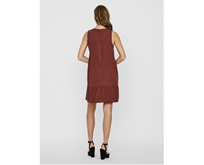Damen Kleid SL SHORT DRESS WVN Sable