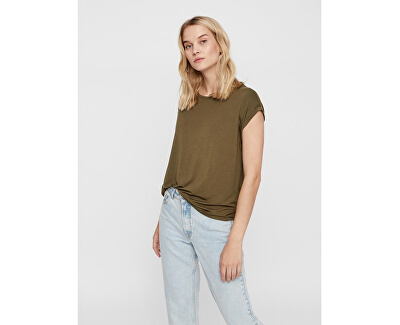 Dámske tričko VMAVA PLAIN SS TOP GA Noosa Ivy Green