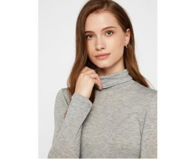 Dámsky sveter VMCLARA L/S ROLL NECK GA VO Light Grey Melange