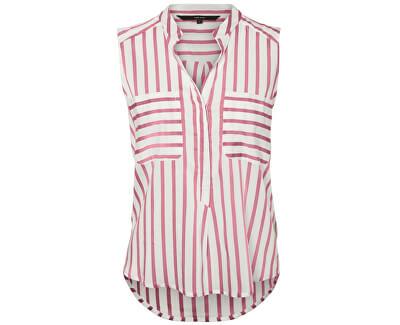 Női blúz Erika S/L Stripe Shirt Color Snow White/Foxglove