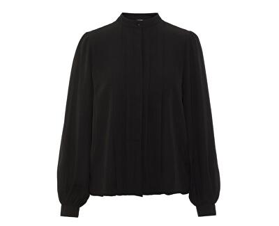Bluză pentru femei Grow Ls Pleat Shirt Wma Black