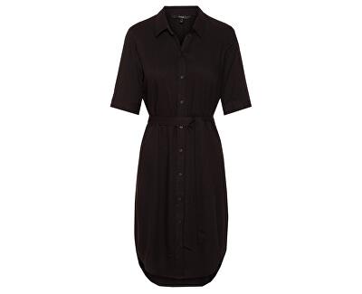 Dámske šaty VMAUTUMN AMAZE 2/4 BLK SHIRT DRESS WVN Black