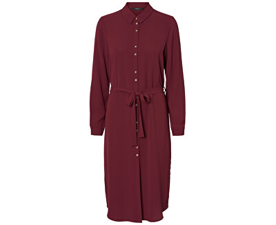 Dámske šaty VMSASHA SHIRT L/S DRESS COLOR Port Royale