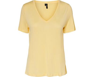 Damen T-Shirt  VMSOFIA SS V-NECK TOP GA VO Pale Banana