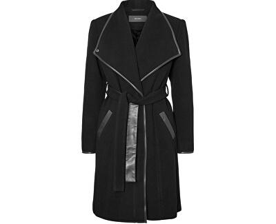 Vero Moda Dámský kabát Waterfall Class 3/4 Wool Jacket Black