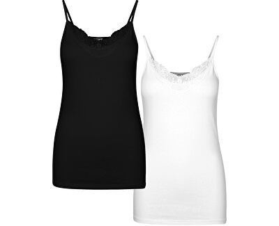 2 PACK - női trikó VMINGE Black/white