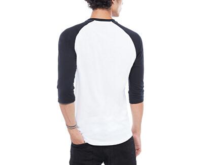 Pánské triko Vans Classic Raglan White/Black VN0002QQYB21