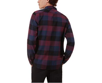 Pánska košeľa Box Flannel Prune / Dress Blue s VN000JOGTQT1
