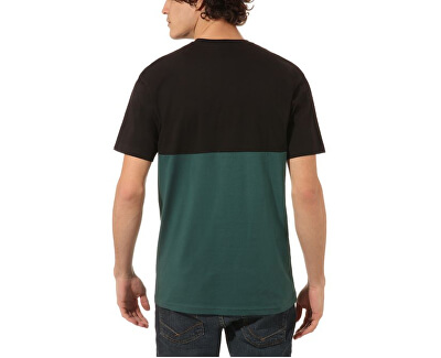 Pánské triko Colorblock Tee Black/Vans Trekking Green VN0A3CZDTNB1